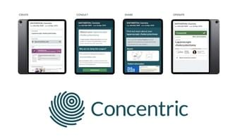 Concentric digital consent application images