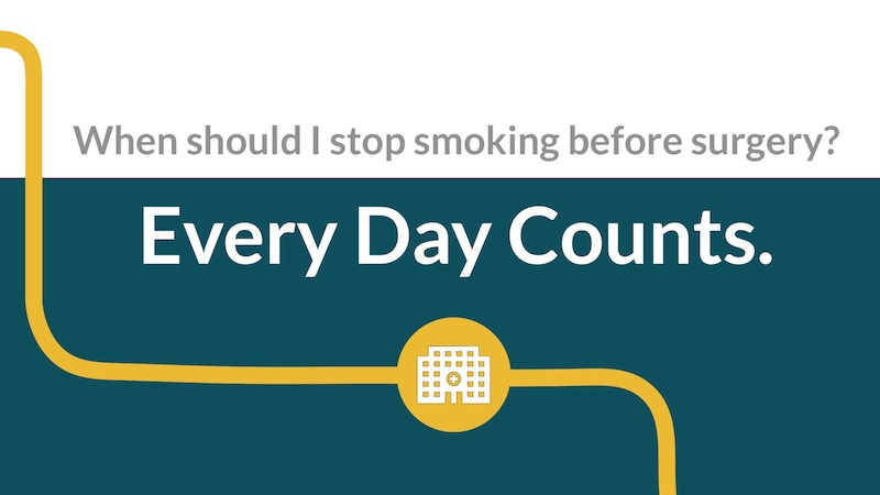 When should I stop smoking before surgery? Every Day Counts