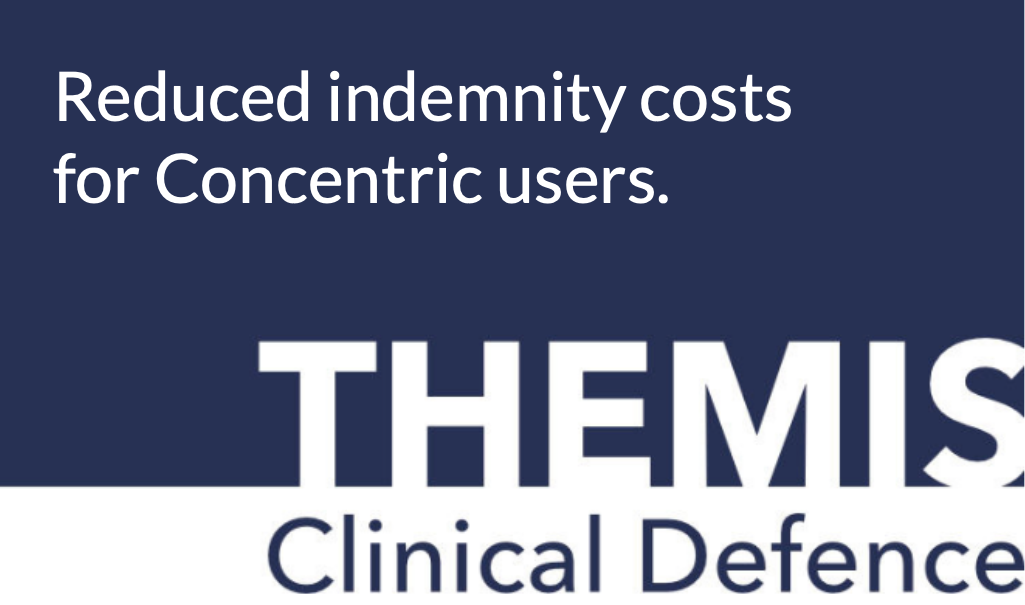 Reduced indemnity costs for Concentric users